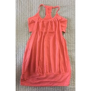 Lululemon Coral Built-In Bra Work Out Tank Top